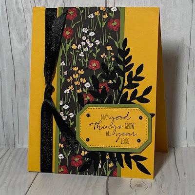 Floral Birthday Card using Dragonfly Garden Stamp set