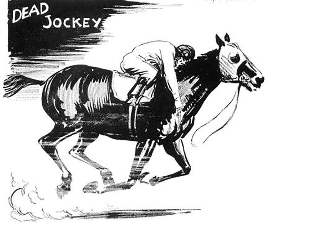 Dead Jockey Wins A race