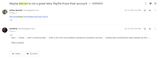 First Bitcoin Email