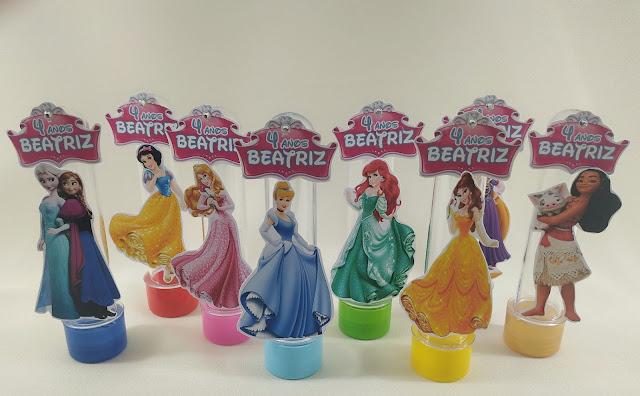 Tubete 3d As Princesas  Disney dicas e ideias para decoração de festa personalizados