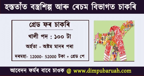 Grade IV Jobs in Handloom & Textiles Department Assam