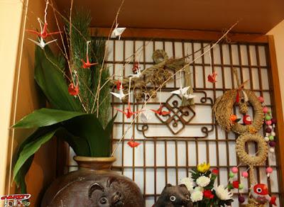正月の折り紙飾り