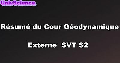 Résumé Du Cour Géodynamique Externe SVT S2 PDF