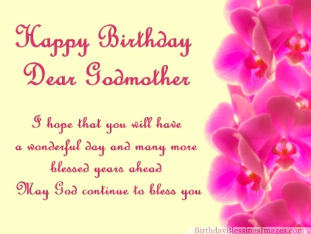 Birthday Wishes for My Godmother With Images