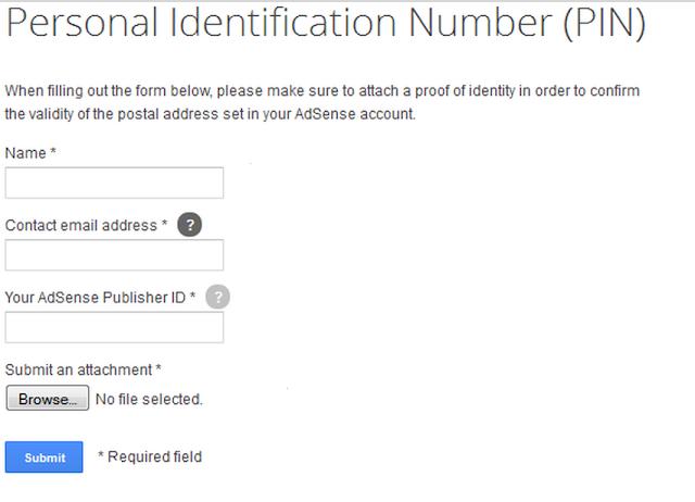Adsense PIN not received: Verify Adsense Without PIN