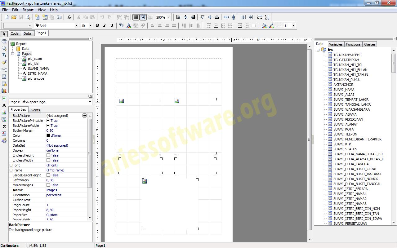 Ekua Design Template Kartu Nikah Ariessoftware