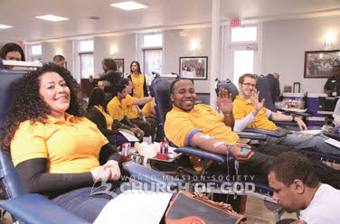 Blood drives in Pennsylvania, Washington D.C.,and Baltomore, U.S.