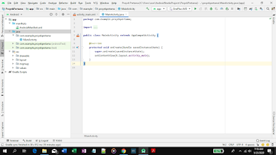 cara membuat project di android studio