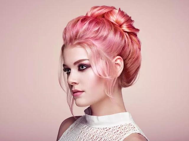 trendy pink haircolor
