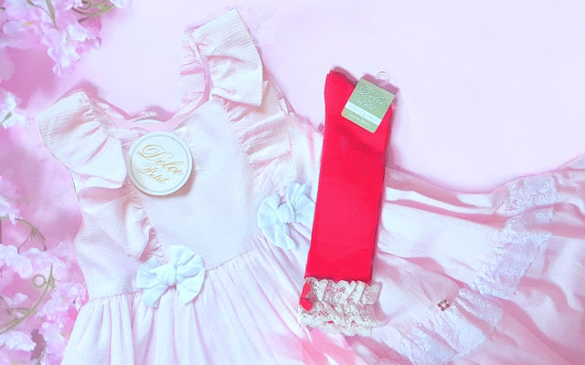 Dolce Petit Ruffle Dress and frilly socks