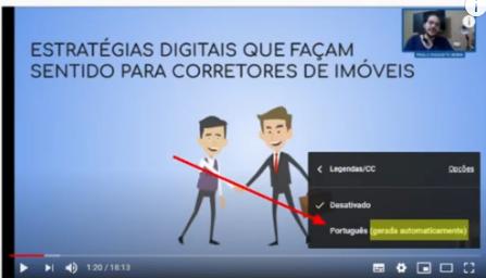 Exemplo de legenda de vídeo - ideal para SEO para Youtube