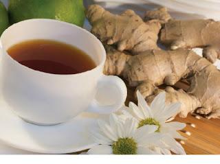 uống trà gừng cũng cách trị sẹo thâm ở mặt hiệu quả