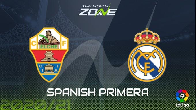 مشاهدة مباراة إلتشي و ريال مدريد بث مباشر