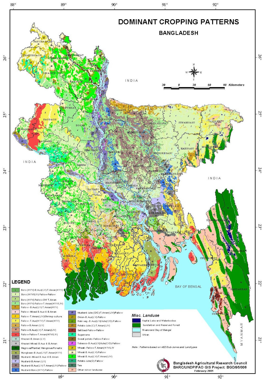 Cropping Pattern Map Bangladesh