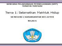 RPP KK 2013 Kelas 6 SD/MI Semester 1 Revisi 2018
