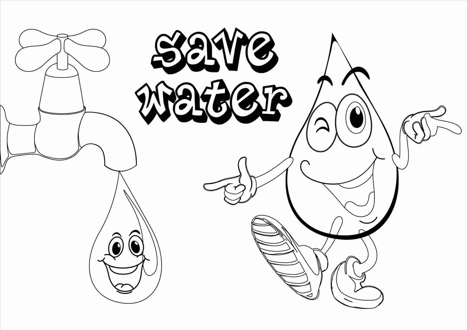 Save Water Poster for School {Class 7,8,12} Images Sketch
