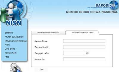 Cara Mencari NISN Berdasarkan Nama dan Sekolah