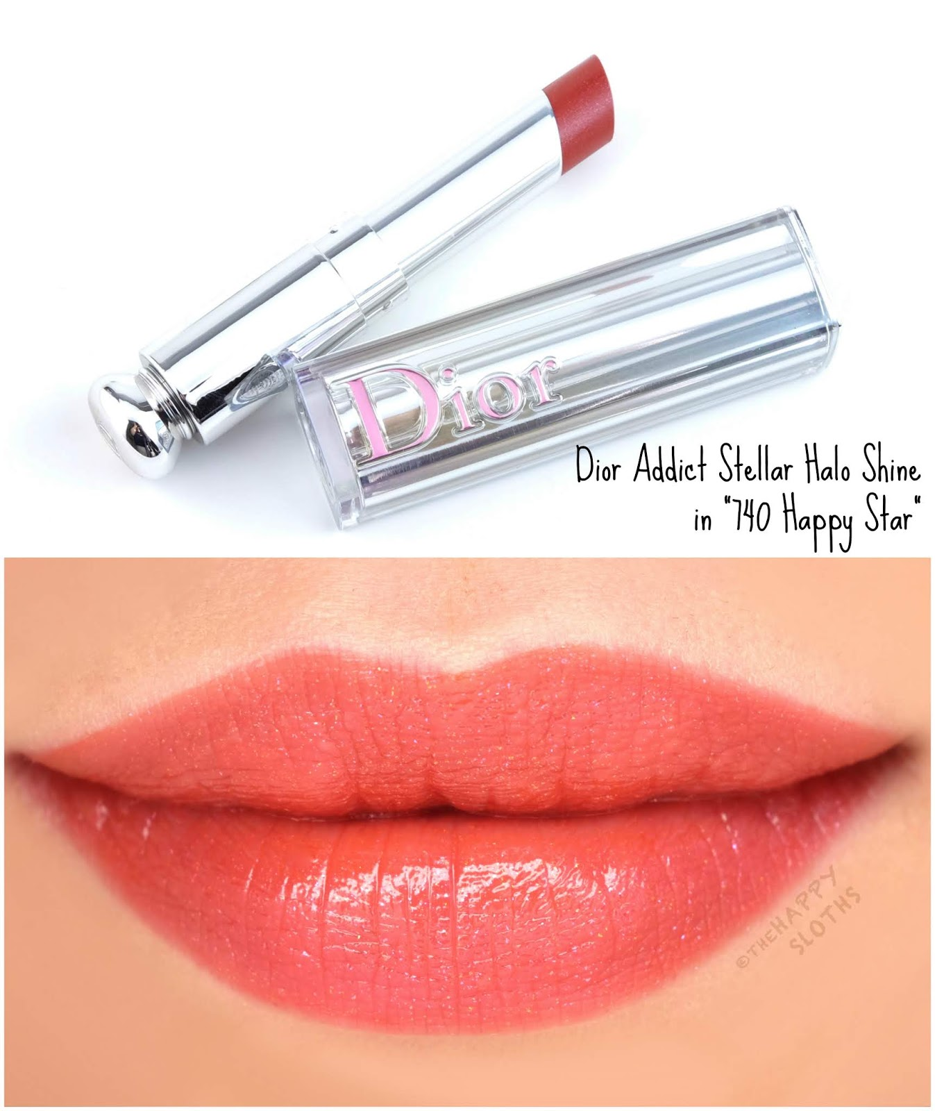 "Dior | Dior Addict Stellar Halo Shine Lipstick in ""740 Happy Star"": Review and Swatches"