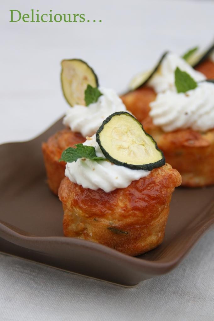Mini Cake Courgette Mozzarella