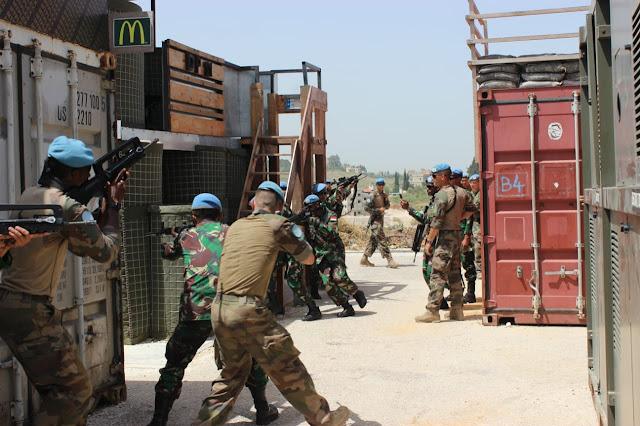 Pasukan Garuda dan FCR Prancis Gelar Latihan Bersama di Lebanon