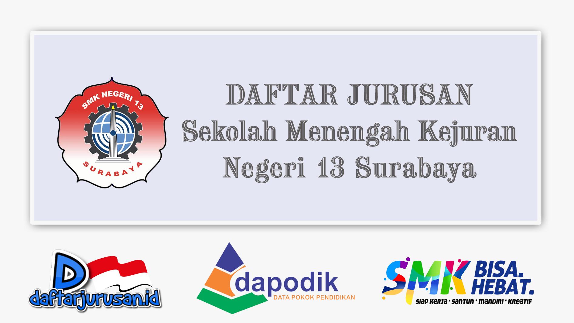 Daftar Jurusan SMK Negeri 13 Surabaya