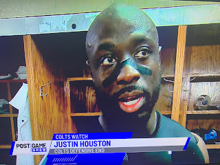 Justin Houston in Colts Postgame Show at Wish TV
