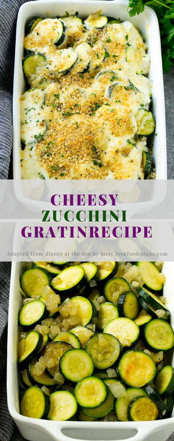 Cheesy Zucchini Gratin Recipe
