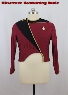 TNG season 1 admiral uniform sewing tutorial