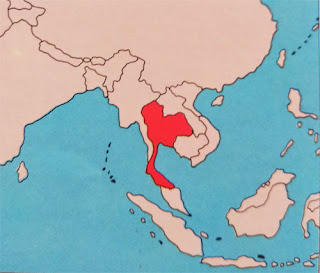 Gambar Peta letak negara Thailand