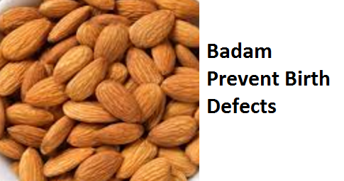 Health Benefits of Almond or Badam Prevent Birth Defects