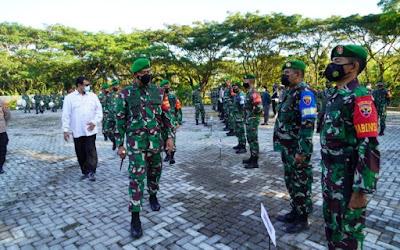Korem 162/WB Gelar Apel Pengamanan Kunjungan Putri Wapres RI di NTB