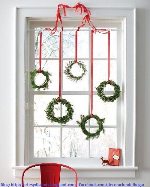 DECORAR VENTANAS PARA NAVIDAD?  Decoraci?n del Hogar, Dise?o de  ~ Decoracion De Ventanas Exteriores Para Navidad