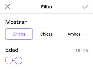 filtros badoo