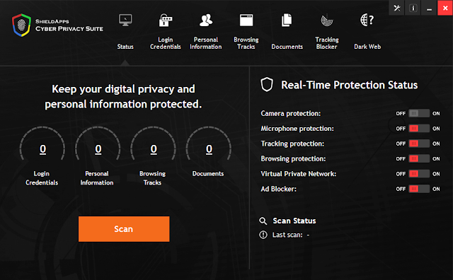 Screenshot Cyber Privacy Suite 3.2.3 Full Version