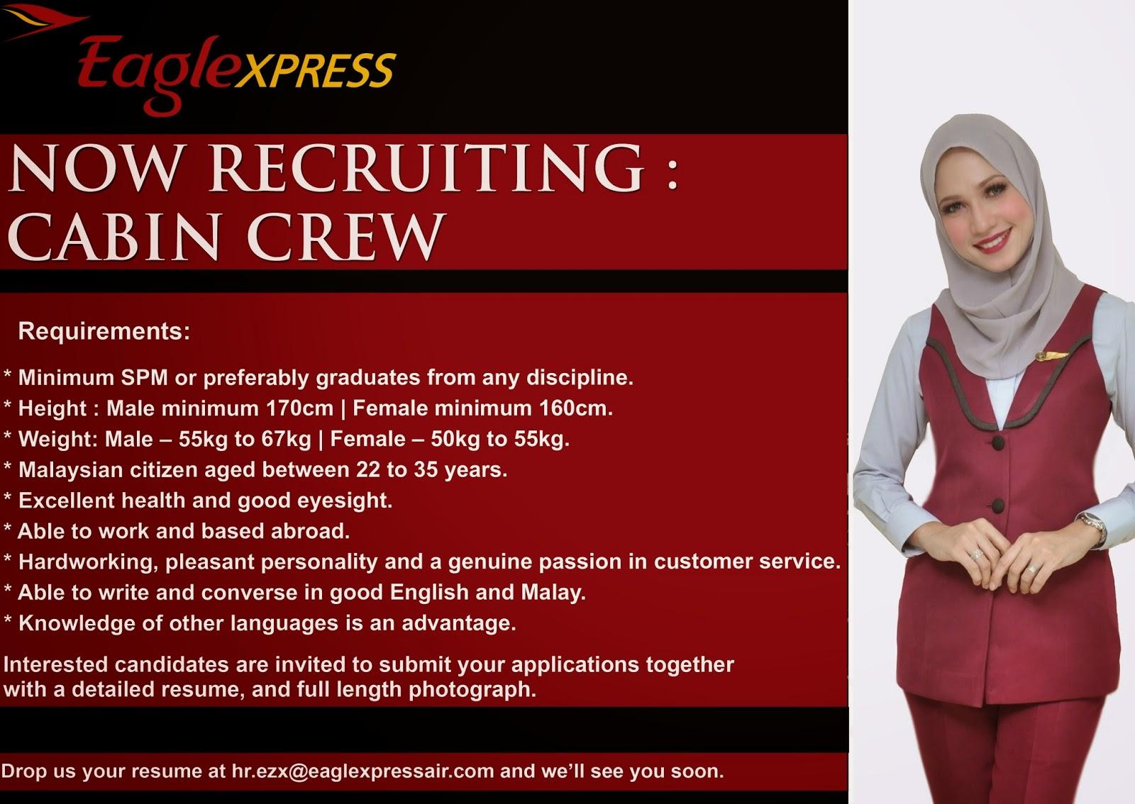 fly gosh eagle xpress cabin crew recruitment