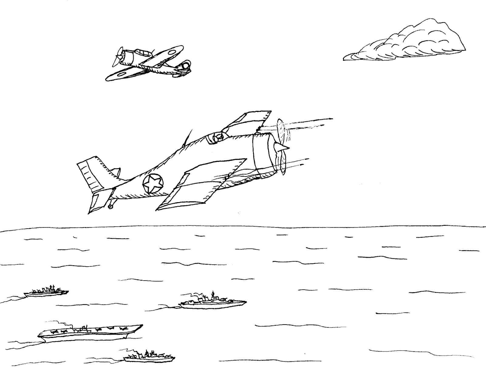 Robin's Great Coloring Pages: Battle of Midway 75th