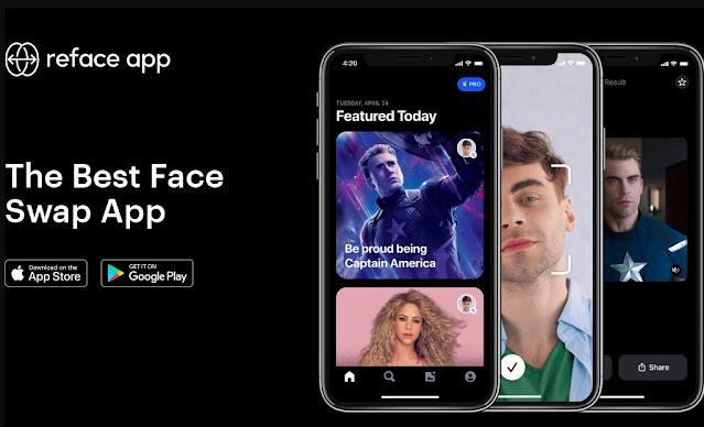 تنزيل تطبيق REFACE لتبديل الوجوه للأندرويد أخر إصدار2021