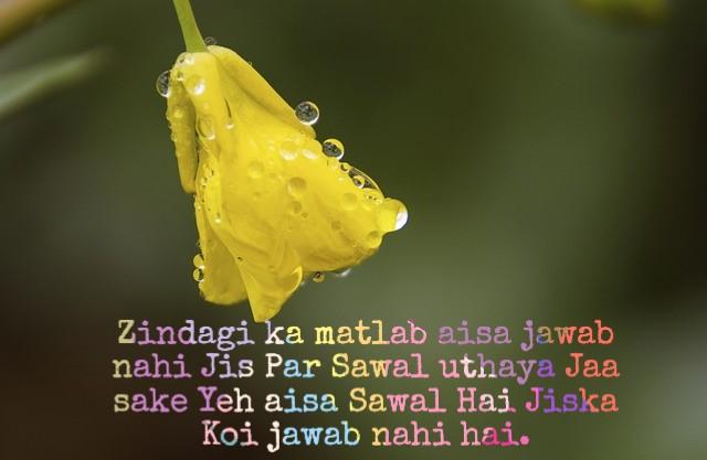 Life status in hindi 2 lines