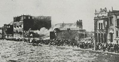 Την Τετάρτη, 31 Αυγούστου, πραγματοποιήθηκε και ο εμπρησμός της Σμύρνης