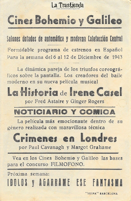 La Historia de Irene Casel - Programa de Cine - Fred Astaire - Ginger Rogers