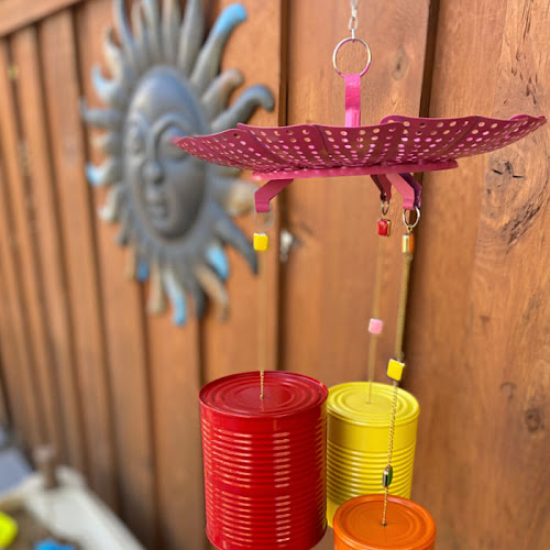 Bright And Whimsical Upcycled Tin Can Wind Chimes