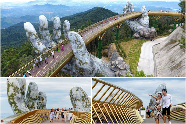 The Golden Bridge Which Adheres To Giant Hands  Is A New Attraction In Vietnam