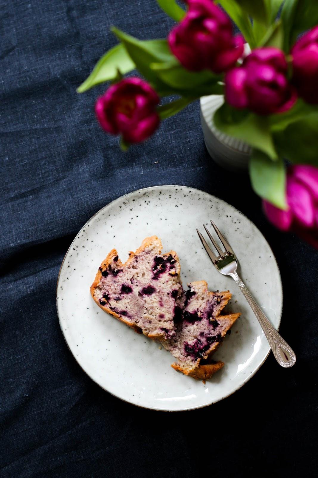 Buttermilch, Blaubeeren, Kuchen, Fleurcoquet