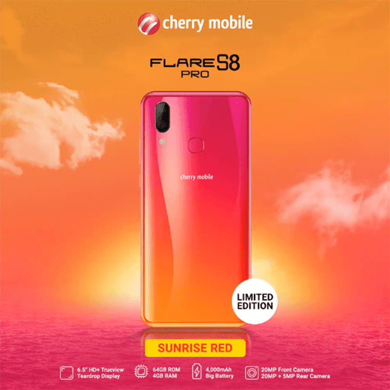 Cherry Mobile releases limited edition Sunrise Red and Iris Purple Flare S8 Pro