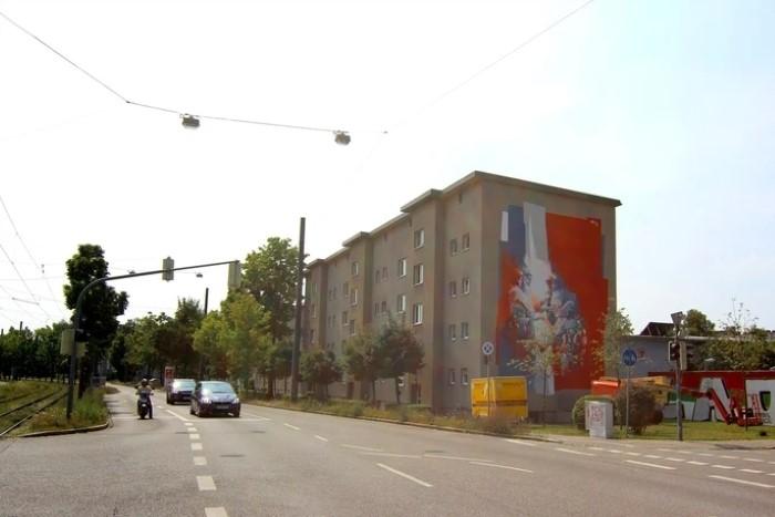 Немецкий уличный художник.