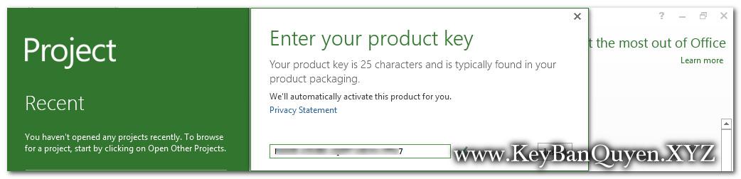 Key Project 2013 bản quyền