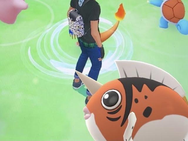 Cutest fish Pokemon in battle