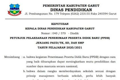 Juknis PPDB Tahun 2020 Kab Garut jenjang PAUD/ TK, SD, SMP