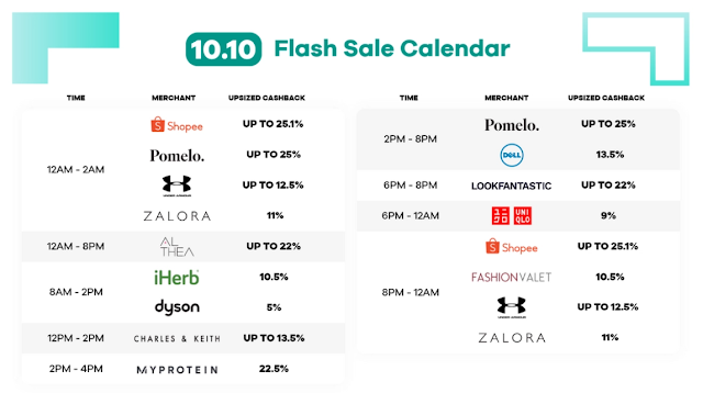 10.10 flash sale hours