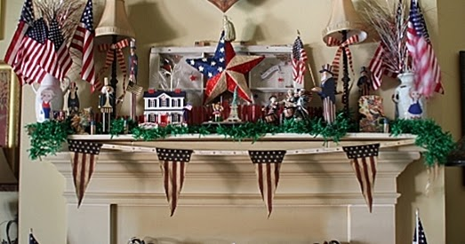 Bargain Decorating With Laurie Indpendence Day Parade On The Mantle